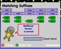 Suffixes: Correct match